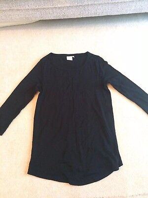 NEXT Maternity Black Long Sleeved Top Size 8