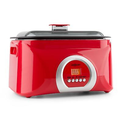 Red Slow Kitchen Cooker Vacuum Cooking Food Cruncy Vegetables Meat Fish 5 L Pot
