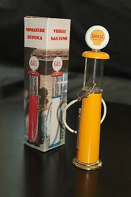 Vintage Visible Gas Pump Miniature Replica Shell Gas OIl Display