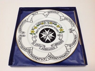 ST JOHN AMBULANCE VINTAGE CENTENARY PLATE 25cm LIMITED EDITION  IDEAL GIFT   bbd