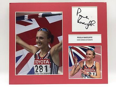 RARE Paula Radcliffe Olympics Signed Photo Display + COA AUTOGRAPH TEAM GB