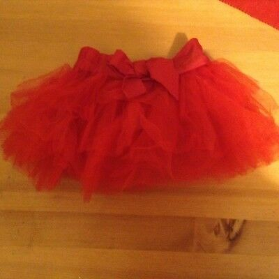 Next Baby Girls Tutu Skirt Bright Red Christmas Party 12-18 Months