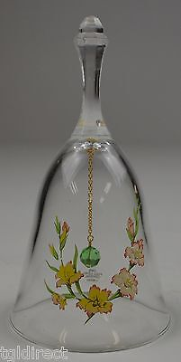 """Vintage Avon 24% Full Lead Crystal Floral Pattern Bell 5.75"""" Tall Collectible"""