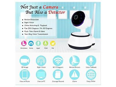 Telecamera Hd Ip Wireless Camera 720P Led Ir Lan Motorizzata Wifi Rete Internet