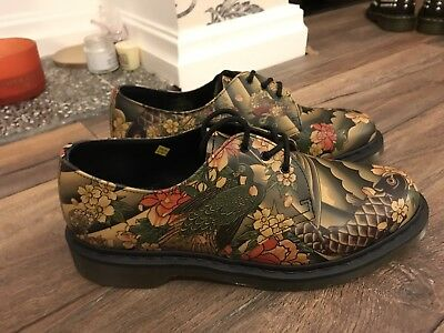 Dr Martens UK 10 Men's Tattoo Sleeve Japanese Print Traditional