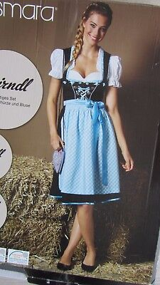 SALE NEW German Bavarian Exclusive 3 pc. Dirndl Dress + Blouse + Apron 12