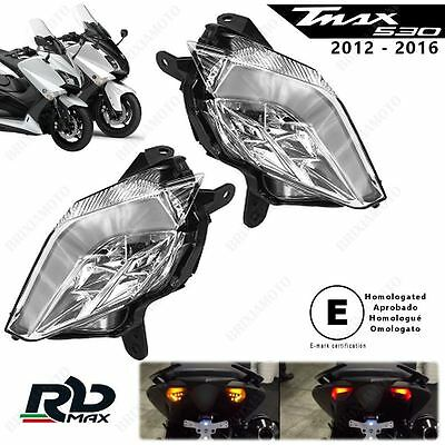 Pair Rear Turn-Signal Led Rb Max With Resistance Tmax 530 Homologated