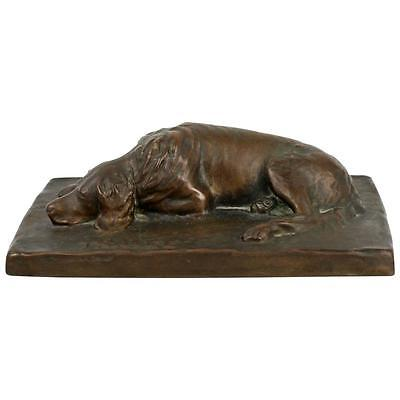 Vtg Roman Bronze Works Sculpture of a Labrador Retriever called Tralee - dog BR