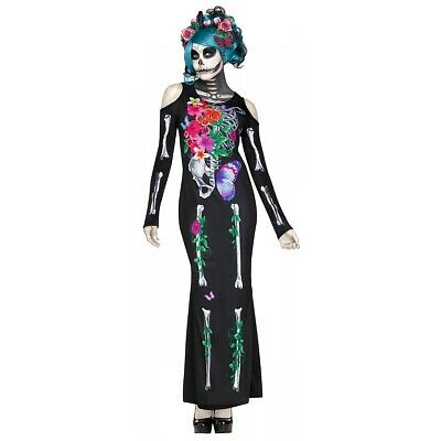 Day of The Dead Costume Dia de Los Muertos Sugar Skull Halloween Fancy Dress