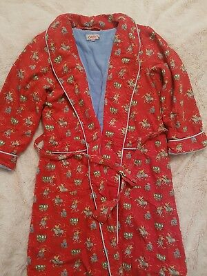 boys 5-6 years cath kids cath kidson red christmas cowboy dressing gown robe