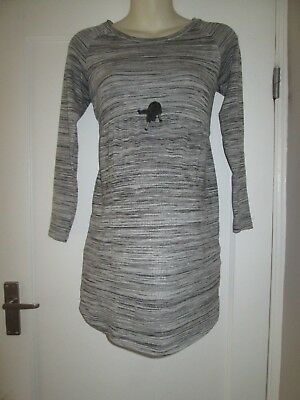 Pretty Size 8-10 Grey H&m Maternity Dress See Pics!!