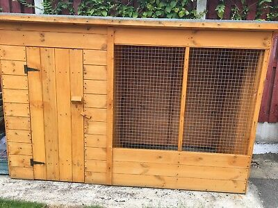 7ft Timber dog kennel with Run