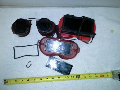 Lot of3Vintage American Welding Goggles Glasses