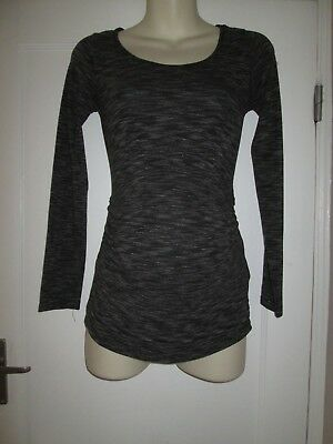 Lovely Size 8-10 Grey H&m Maternity Top See Pics!!