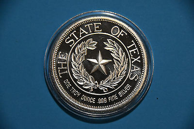 1986 USA State of Texas PP Silber