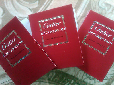 1.5 ml Cartier DECLARATION Eau de Toilette EDT Spray X 3