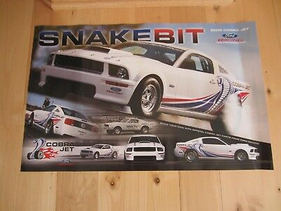2008 Mustang Cobra Jet Snake Bit Racing Poster 16 x 25 Never Used
