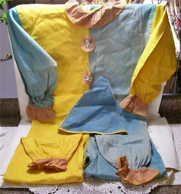 Antique/vintage Halloween Clown Outfit, Linen