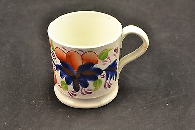 19th C. (1800s)  Pearlware Gaudy Welsh Child's Mug      ND3101