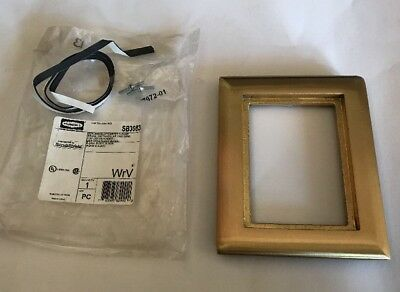 6 Hubbell SB3083 Scrubshield Brass Carpet Flange One 1 Gang Cover  NEW