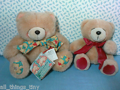 """Two Vintage Andrew Brownsword Forever Friends Bears 8"""" & 10"""". One with tags"""
