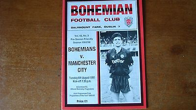 Bohemian Fc V Manchester City Aug 1991
