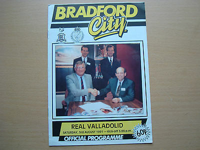 Bradford City V Real Valladolid Aug 1991