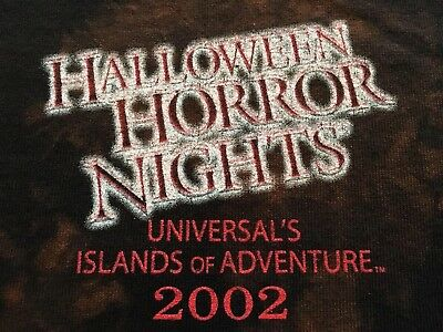 Horror Nights' 2002 Halloween Vintage Collectable Marvel Comic/universal T Shirt