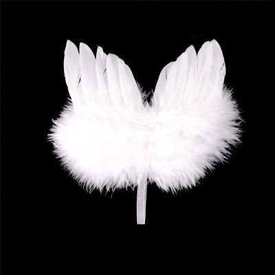 Infant Newborn Boy Girl Fairy Feather Pure white Angel Wings Decor FG