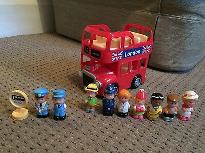 ELC Happyland London Bus Double decker With Sounds. Figures Included.