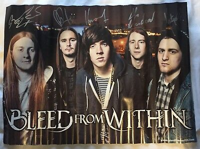 Signed Bleed From Within Poster Autographed Rock Metal Band