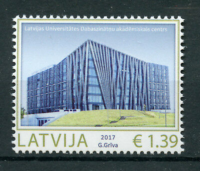 Latvia 2017 MNH Academic Center Natural Sciences 1v Set Education Stamps