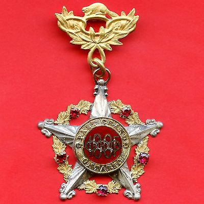 IOOF 1919 Pendant Pin Past Grand Jewel (United Lodge #415 Ont.) Top Pin 10K Gold