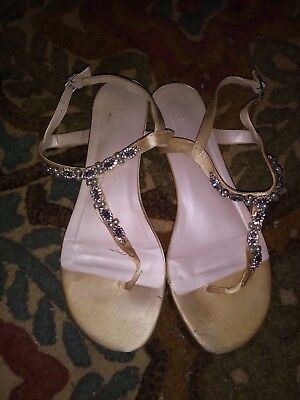 David's Bridal Wedding Flats Size 8W, worn only once!