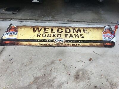Coors Light BANNER SIGN BEER WELCOME RODEO FANS Bull Riders