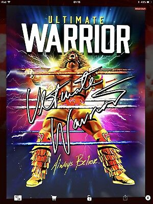 Topps WWE Slam Digital,  Signature,   Ultimate Warrior