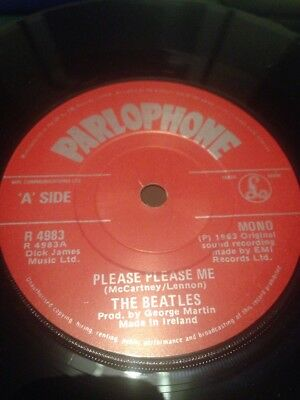 THE BEATLES - Please Please Me SUPER RARE IRISH PRESS PIC COVER R4983 Mono 7""