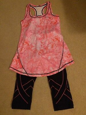 Elle gym/running outfit, Capri pants and top, size 10, VGC