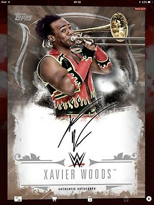 Topps WWE Slam Digital,  Signature,  Xavier Woods