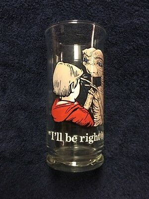 Vintage 1982 PIzza Hut ET I'll Be Right Here 16 Ounce Glass Collectors Series