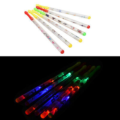 1X Butterfly Light Up Sticks Flashing Patrol Wands LED Glow Blinkings Rave Party