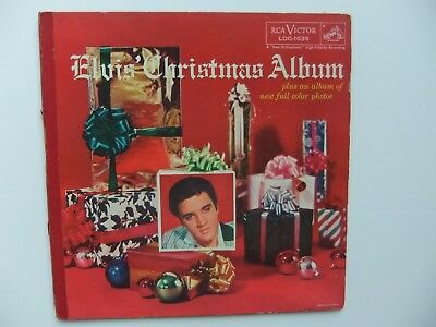 Vintage 1957- Elvis Presley Christmas  Album & Color Photos  Rca Loc-  1035 Lp