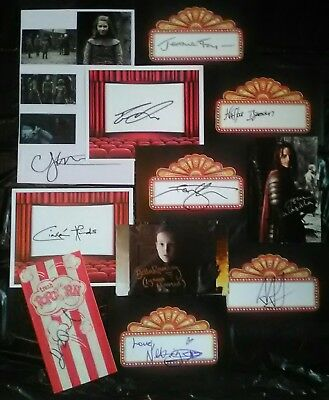 11 Game Of Thrones Autographs