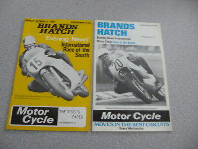1969 & 1970 Brands Hatch International Race of the South Programmes