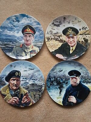 """Set of 4 Royal Doulton """"The D-Day Landings"""" by Graham Coton with certificates"""