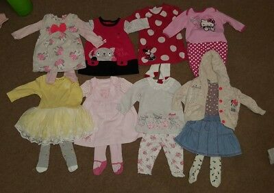 large bundle of girls clothes age 3-6 months