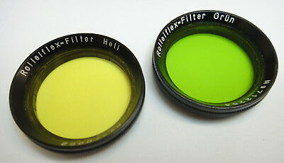2 x Rolleiflex 28.5mm push-on vintage type filters for early TLR cameras