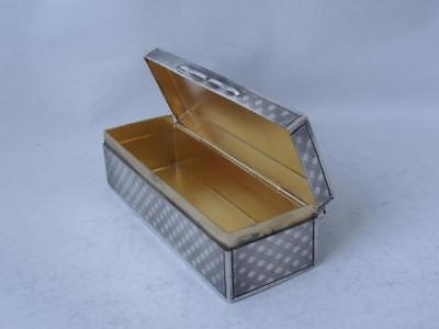 Quality Antique Solid Sterling Silver Snuff Box 1909/ L 7.3 cm