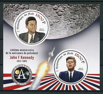 Mali 2017 MNH John F Kennedy JFK 100th Birthday 2v M/S US Presidents Stamps