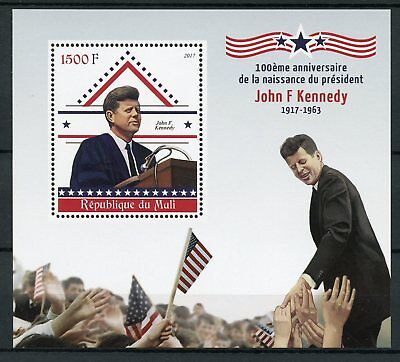 Mali 2017 MNH John F Kennedy JFK 100th Birthday 1v S/S US Presidents Stamps